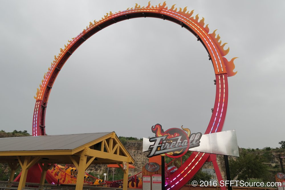 Fireball was added to the park in 2016.