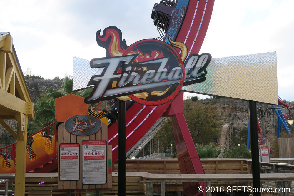 The signage for Fireball.