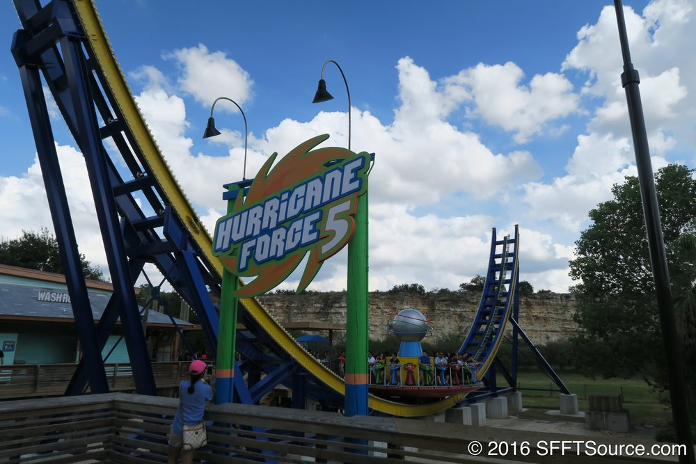 Hurricane Force 5 is located on Fiesta Bay Boardwalk.