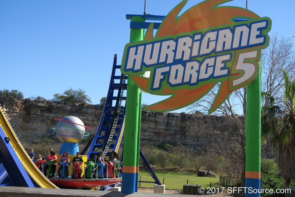Hurricane Force 5's main signage.