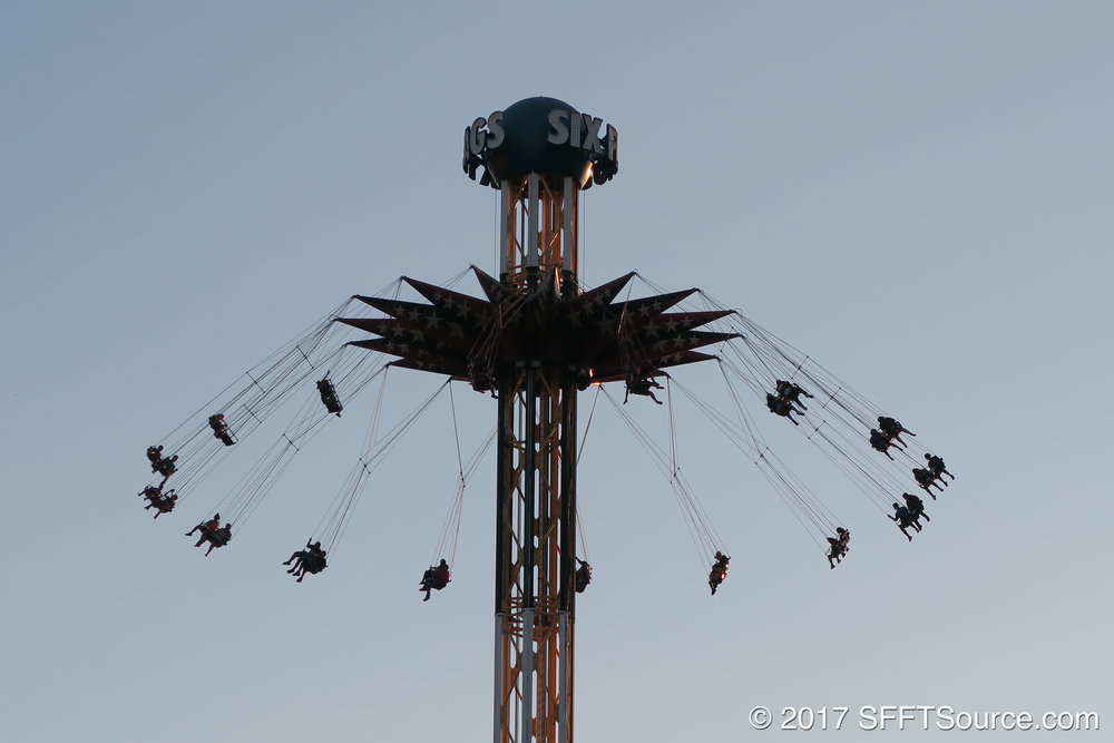 SkyScreamer stands at 200 feet tall.