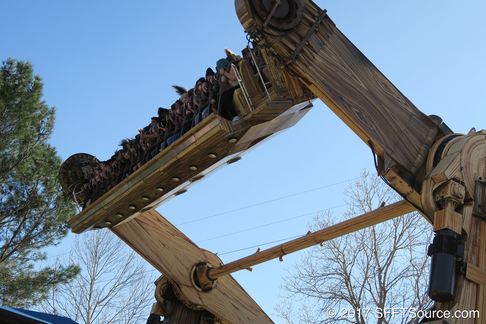 The Twister sends riders through multiple inversions.