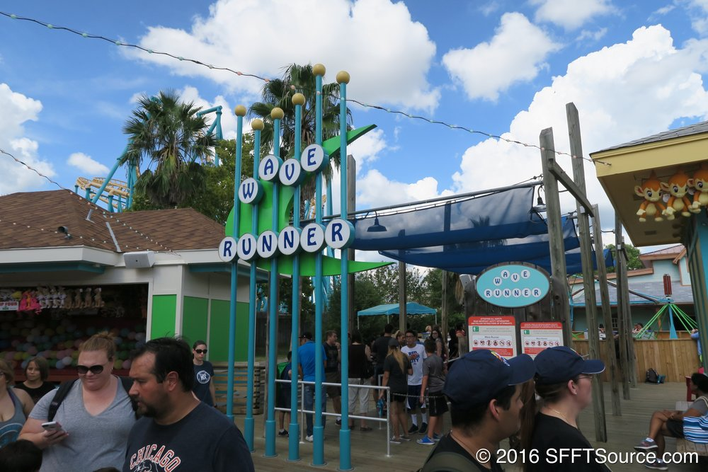 The main entrance to Wave Runner.