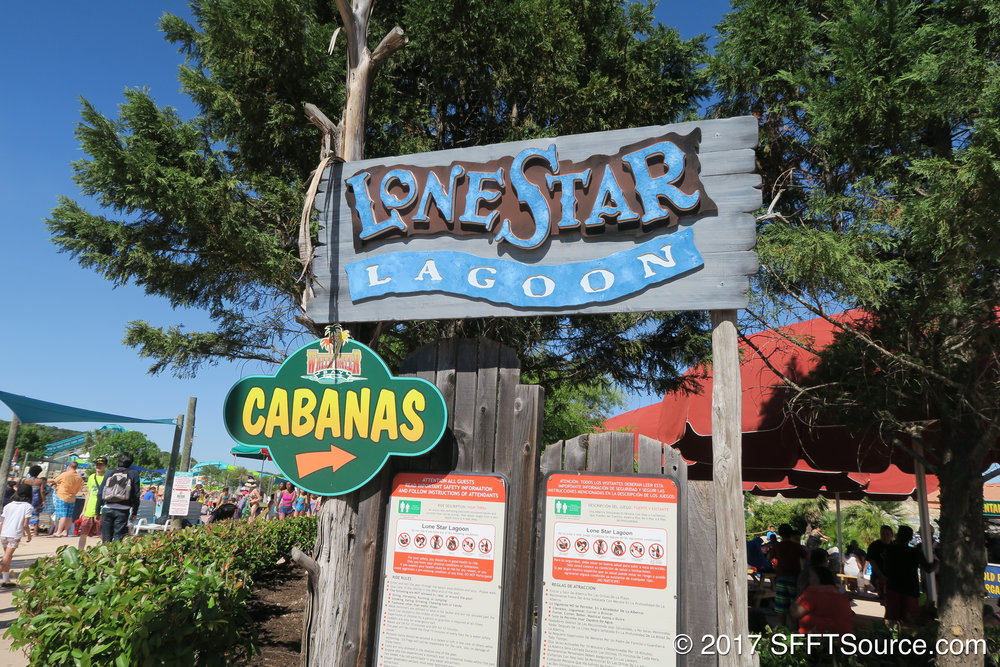 The main sign to Lone Star Lagoon.