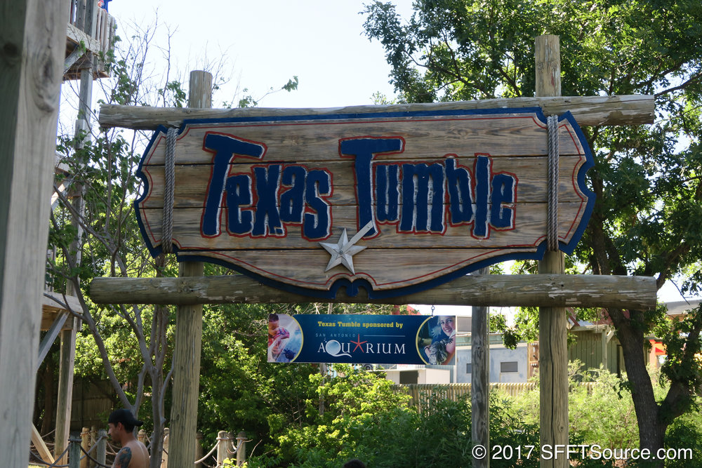 The main sign/entrance to Texas Tumble.