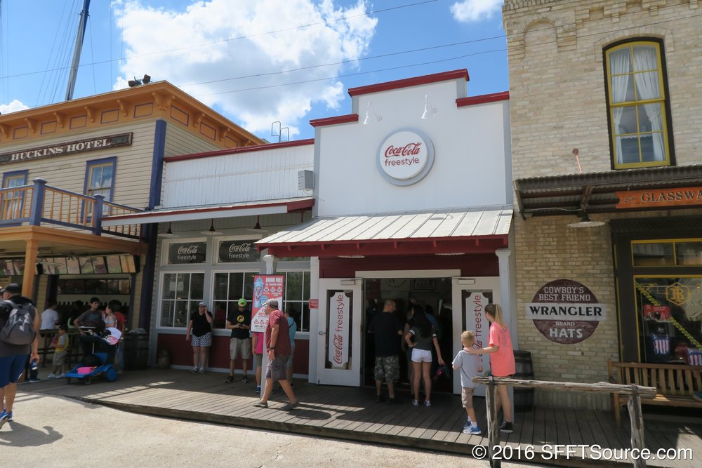 The Coca-Cola Freestyle is located in Crackaxle Canyon.