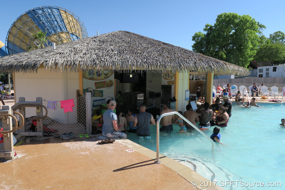 The location features a swim-up bar.