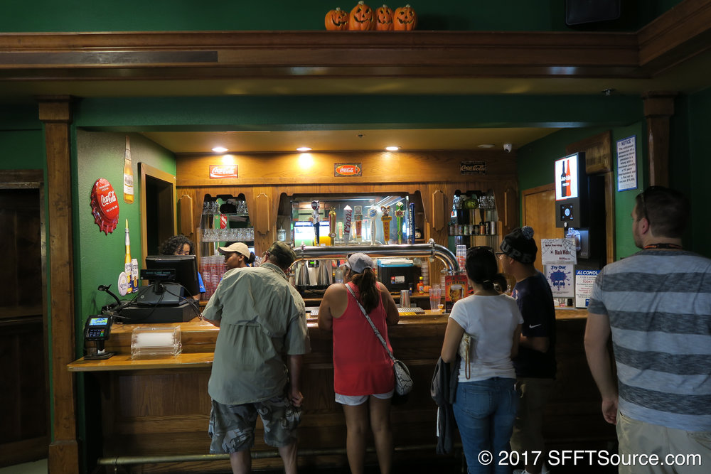 Thirsty Buffalo Saloon sports a full-service bar.
