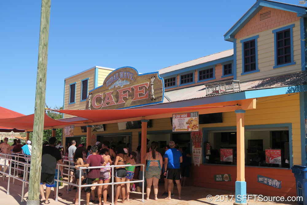 Tidal Wave Cafe is a large outdoor restaurant.