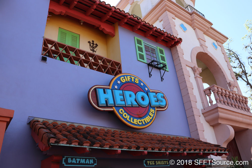 The main sign at the entrance of Heroes.