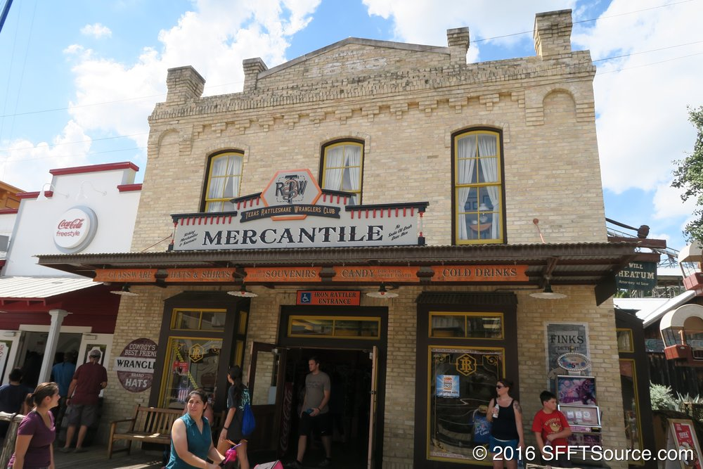 Iron Rattler Mercantile is an indoor shop in Crackaxle Canyon.