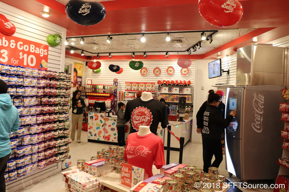 The interior of Jelly Belly.