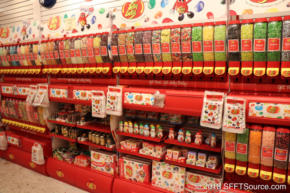 This shop has an assortment of Jelly Belly flavors.