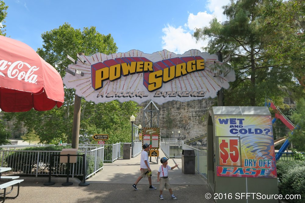 The main entrance to Power Surge.