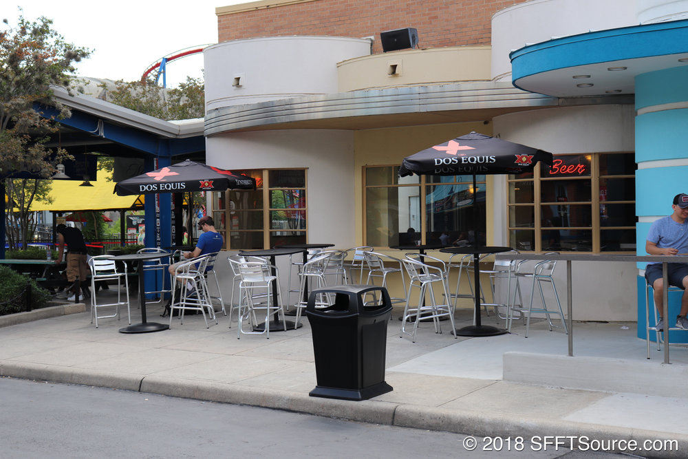 A look at the bar's outdoor seating area.