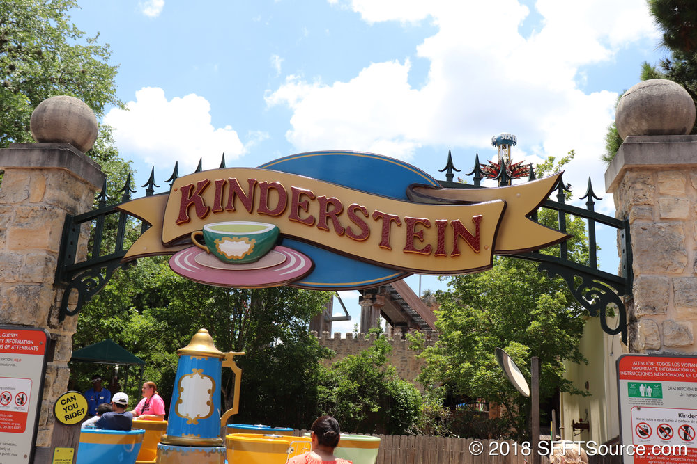 A closer look at the main sign for Kinderstein.