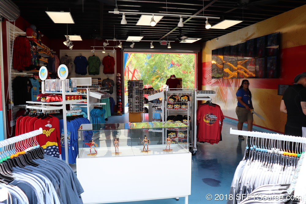 A look at the interior of Wonder Woman Gifts.