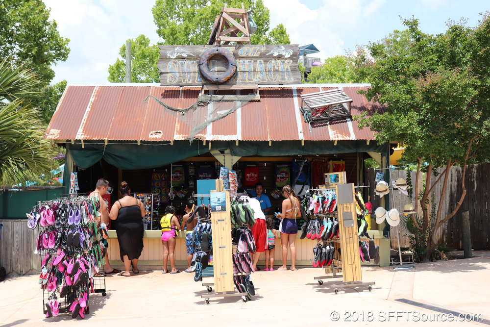 Swim Shack is an outdoor shop in White Water Bay.
