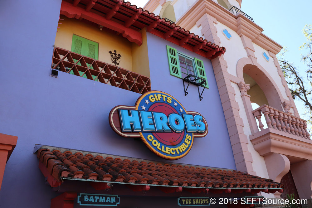 Heroes located in the park's Los Festivales area.