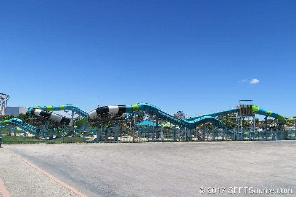 Thunder Rapids Water Coaster is perhaps the most thrilling attraction of the water park.