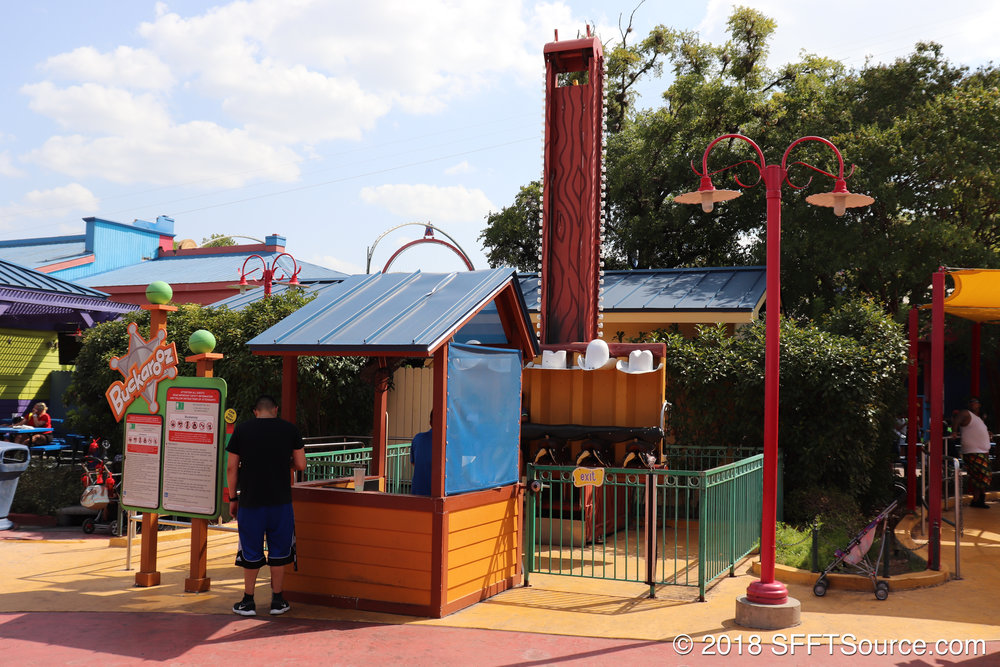 Buckarooz is a Kiddie Drop Tower attraction.