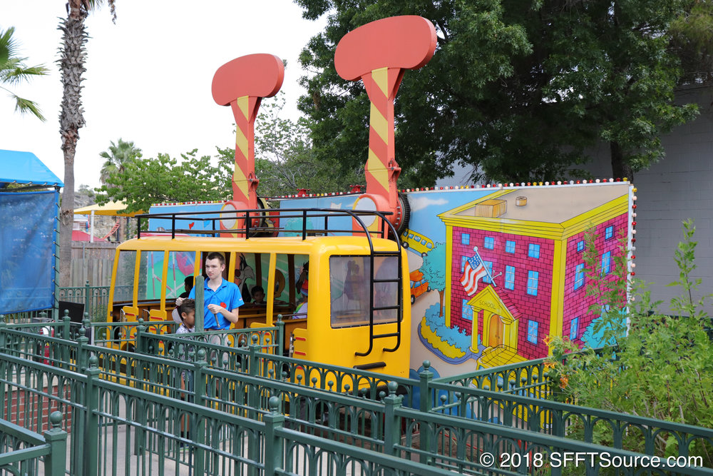 A closer look at Daffy's School Bus Express.