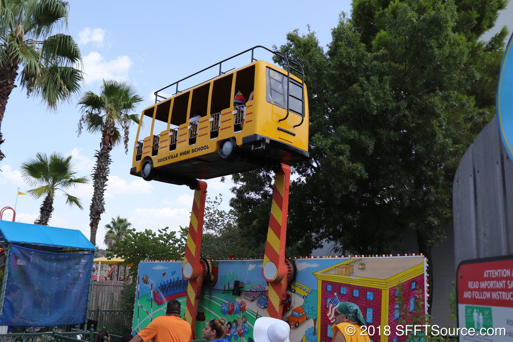 Guests are sent spinning up through the air on this attraction.