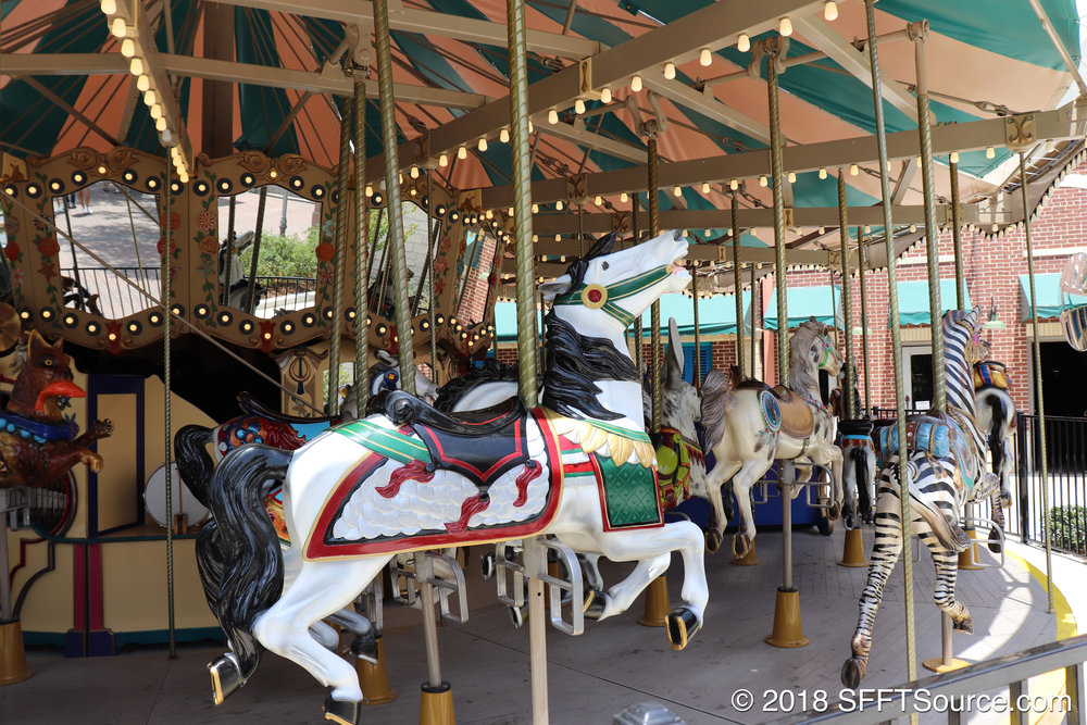 A close look at the animals featured on Grand Carousel.