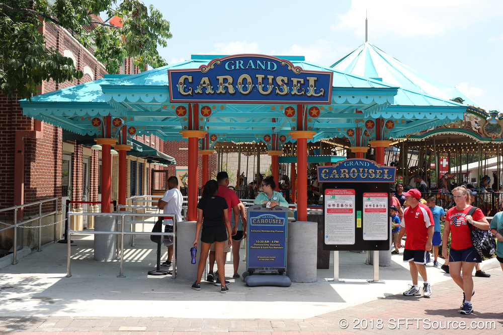 The main entrance to Grand Carousel.