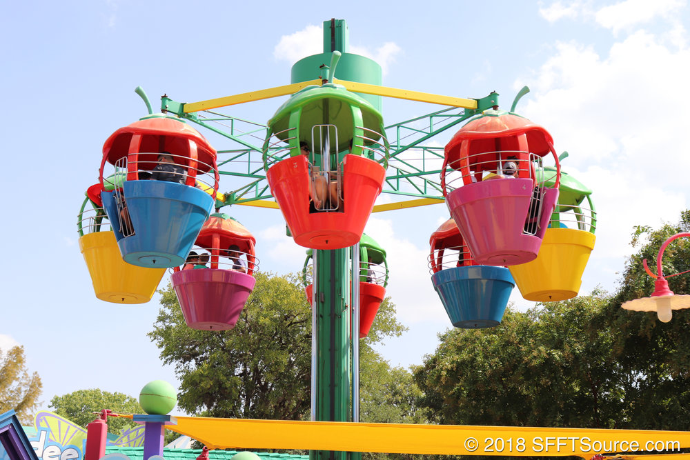 Guests can overlook all of Kidzopolis from this attraction.