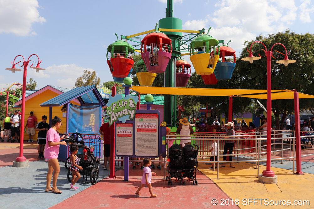 Up, Up & Away is located in Kidzopolis.