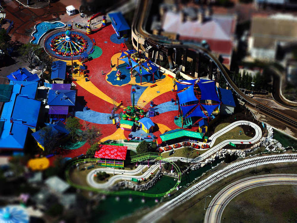 An overview of the Kidzopolis area when it was known as Wiggles World. Credit: Rock Solid USA