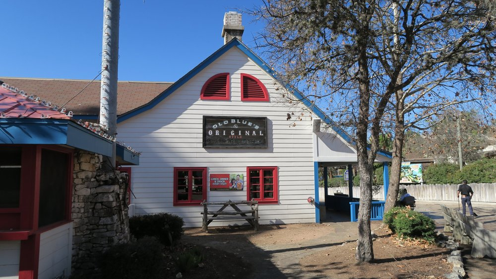 Old Blue's BBQ is located in Crackaxle Canyon.