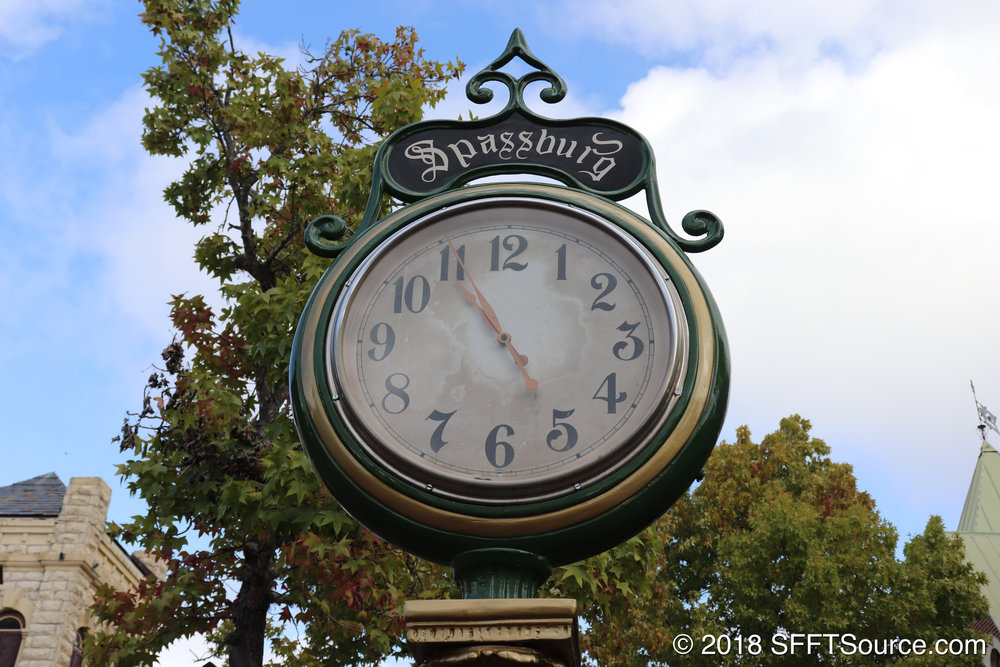 A themed clock located in Spassburg.