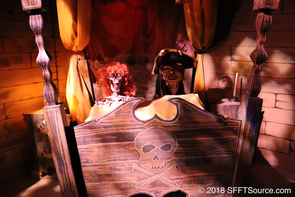 Another scene from inside of Pirates of the Deep Sea.