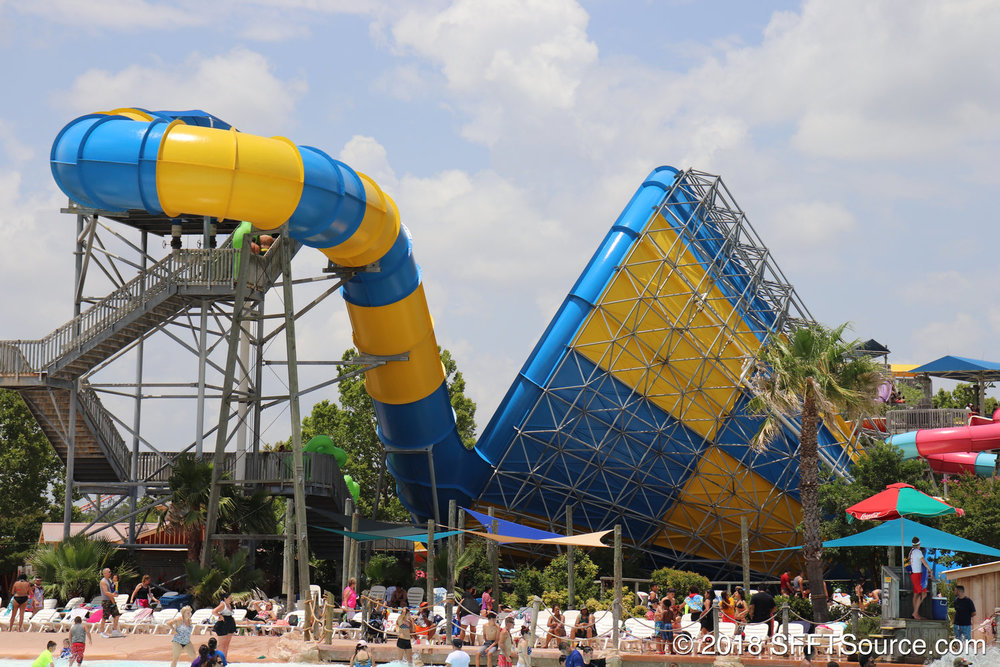 The Tornado water slide inside White Water Bay.