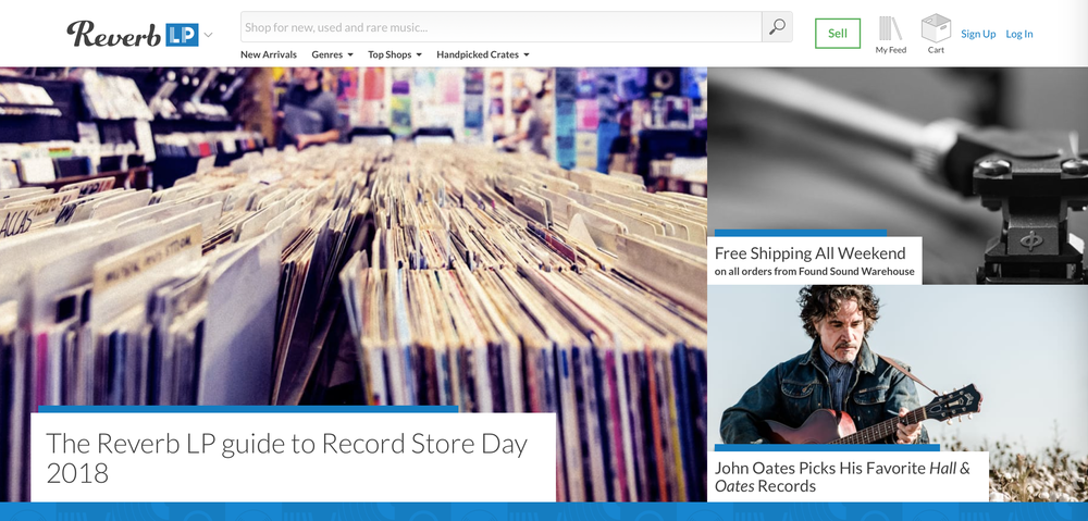 Reverb LP's home page.