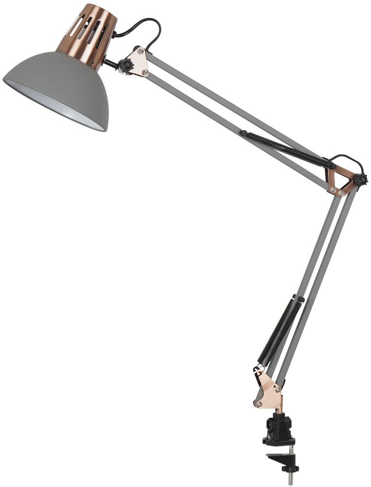 Aria pöytä-/seinävalaisin harmaa   Voidaan kiinnittää kiristettävällä klipsillä pöytään tai seinäkiinnikkeeseen.  Runko metallia. Johto 1,8 m.   44,90 €