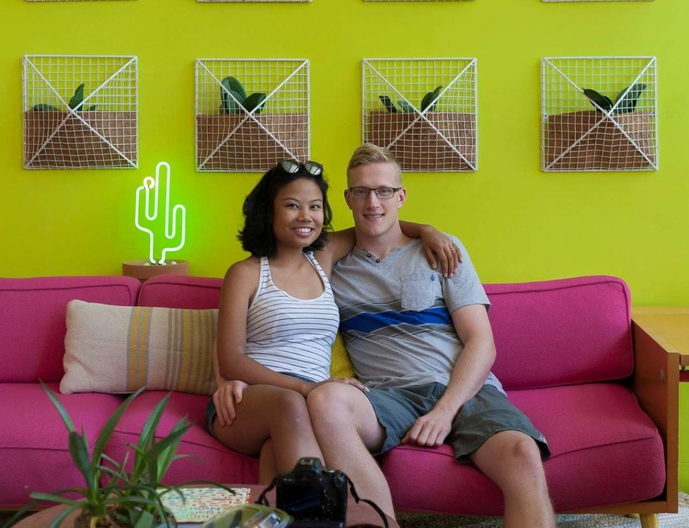 Scottsdale, Arizona  |  Saguaro Hotel (not this couch, we like this couch.)