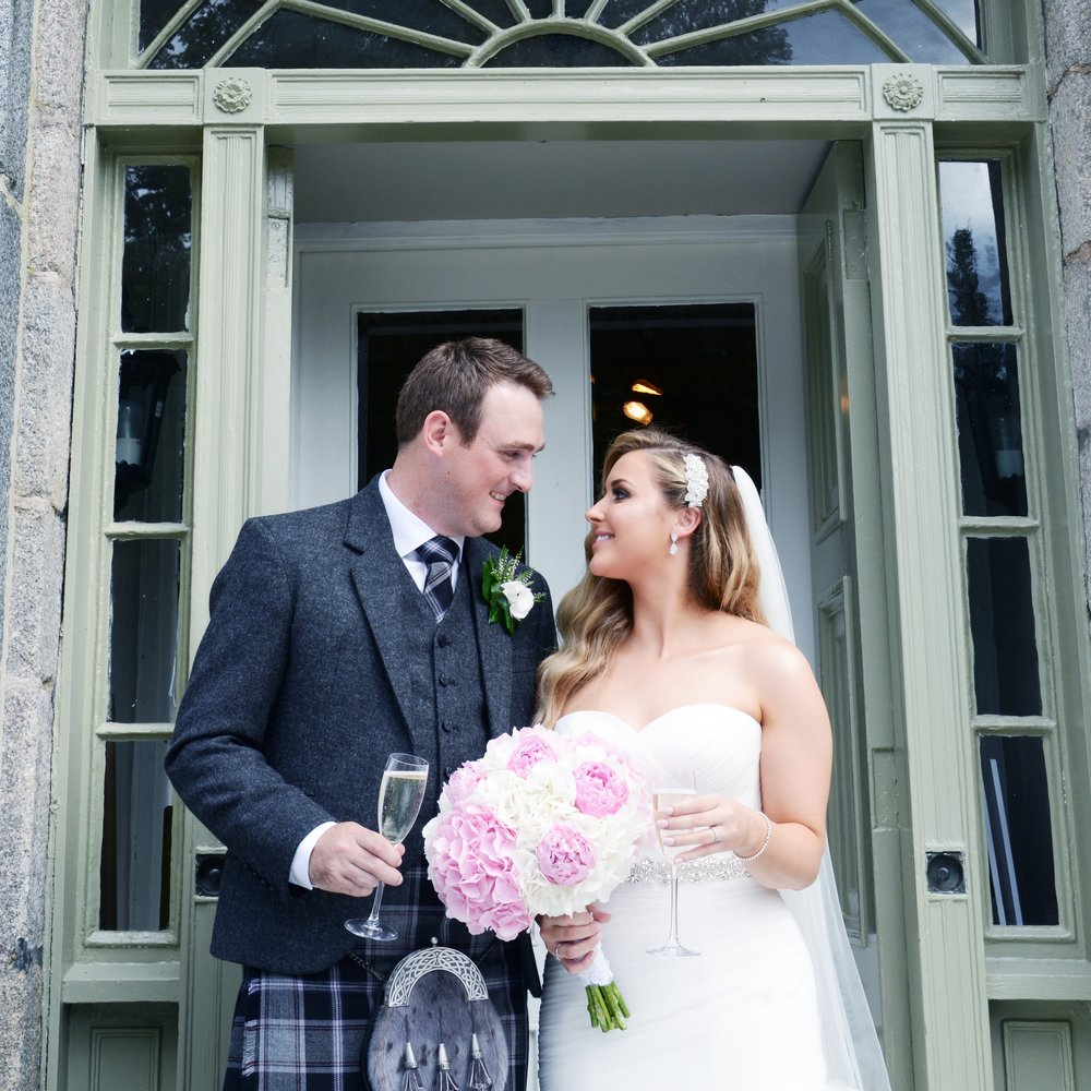 "Debra & Andrew - Banchory Lodge Hotel    ""Hi Rebecca, just wanted to drop you a quick message to say thank you so much for everything yesterday! Everything was perfect and truly stunning, you truly made the day come together flawlessly and achieved my vision perfectly! I was amazed at how beautiful everything was. Maybe we can catch up at some point while I'm off and just reminisce... xxx"""