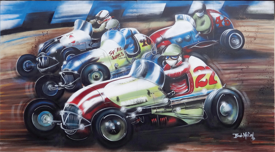 Midget Car Race — 2016  Ramona Automotive • 1936 Main Street Artist: Saratoga Sake