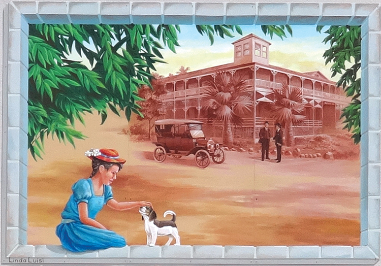 Kenilworth Inn Mural — 2015   Ramona Food and Clothes Closet • 773 Main Street Artist: Linda Luisi