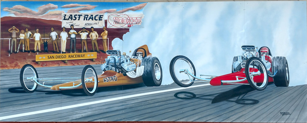Ramona Raceway Dragster — 2018  Ron's Tire & Brake • 2560 Main Street Artist: Dave Ybarra