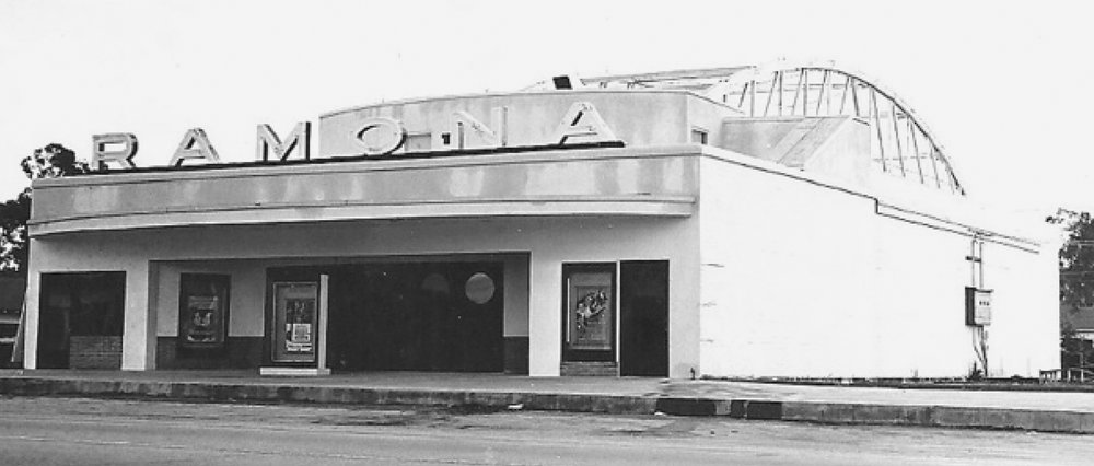 Ramona Theatre is pictured after its opening in 1947.   Photo by Darrell Beck