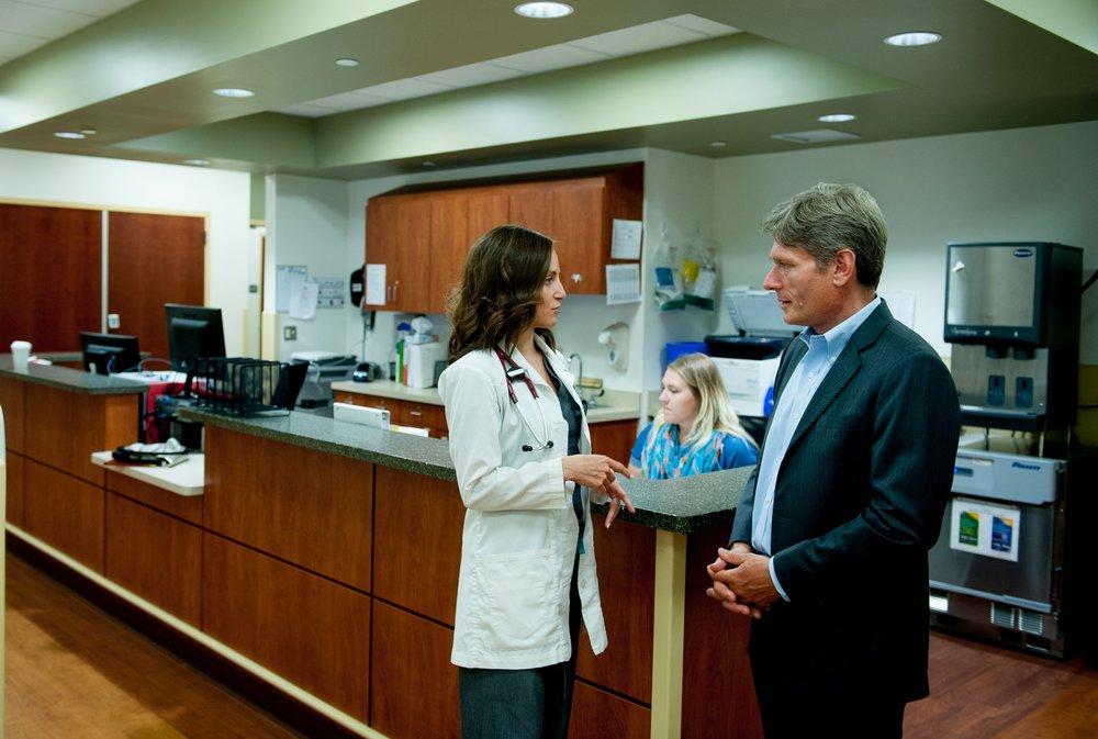 Tom Malinowski Touring Healthcare Facility