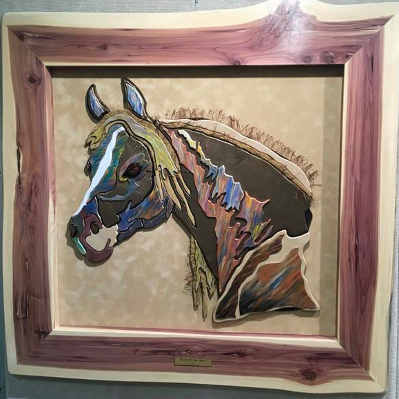 """Best of the Best"" by Sandy Maguire - Hand-cut, laminated and glazed wood are her 'paints'."