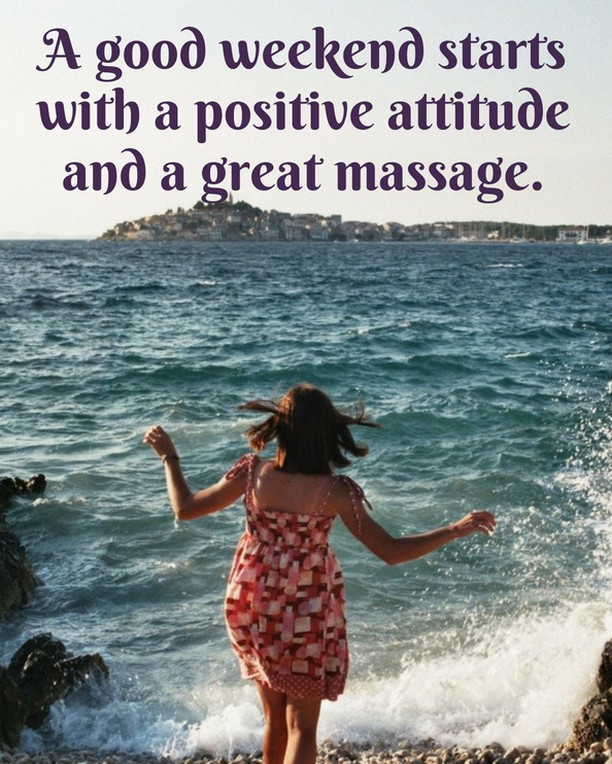 A good weekend starts with a positive attitude and a great massage...... Opt for Medsense Massager: www.medsensemassagers.com * * * * #quotes #massagequotes #quotesoflife #massager #massage #electronicmassager #massagelife #massages #massagens #fitness #painrelief #stressrelief #stressfree #relaxation #happy #personalmasseuse #painfree #focused #shiatsu #shoulders #neck #back #poratble #durable #relax #medsensemassagers