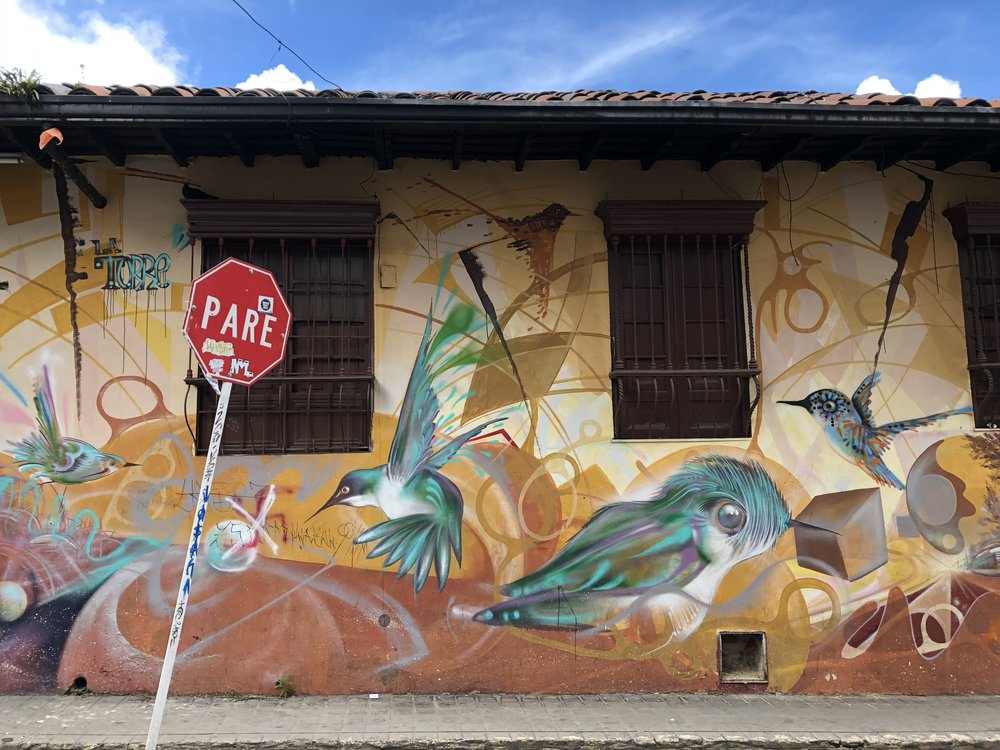 Graffiti artists pay tribute in countless places to hummingbirds. Colombia is home to more than half of the planet's hummingbird species.