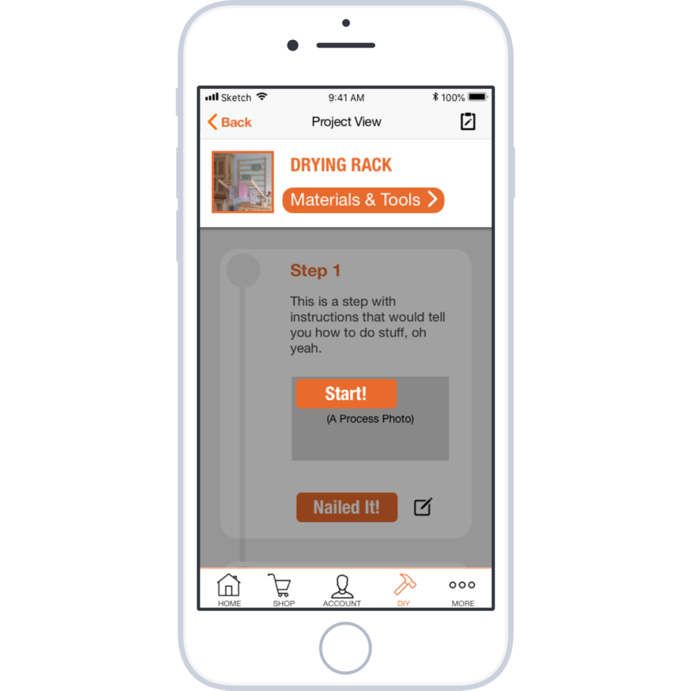 Home Depot feature design - I  created a DIY platform and integrated it into Home Depot's existing mobile app. Concept Project