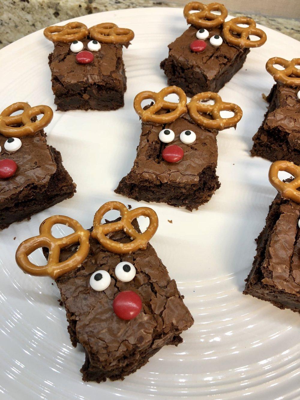 Kirkland's - Easy Christmas Reindeer Brownies